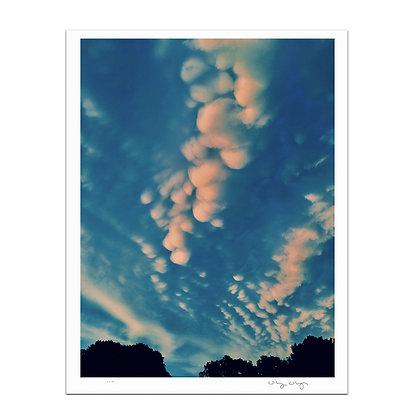 Cotton Ball Clouds Print