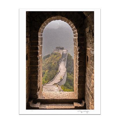Great Wall Doorway Print