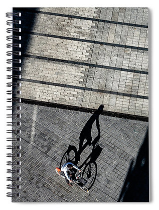 Cyclist On The Plaza Notebook