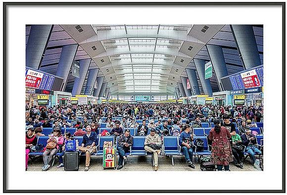 Beijing Train Station Framed