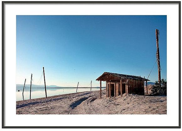 Salton Sea Shack Framed