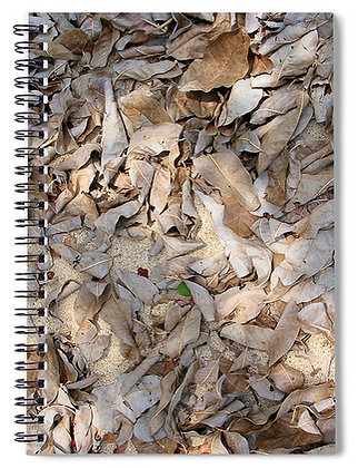 Sand And Leaves Notebook