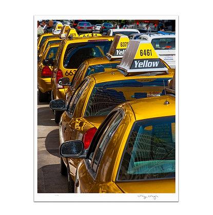 Taxi Line Print