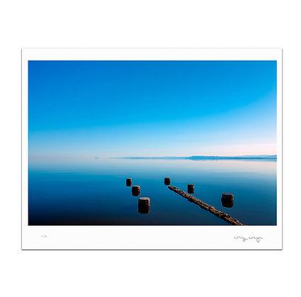 Jetty At Salton Sea Print