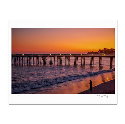 Hasidic Judaism At Malibu Pier Print