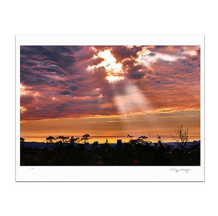 God Rays on East Hollywood Print