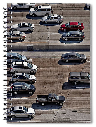 Red Car In Rush Hour Notebook