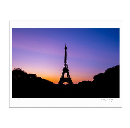 Eiffel Tower At Dusk Print