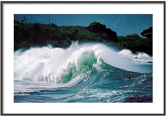 Waimea Shorebreak Framed