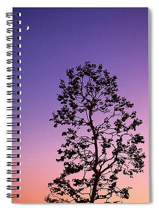 Moonrise At Dusk Notebook