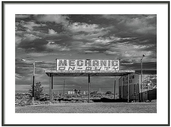 Mechanic On Duty Framed