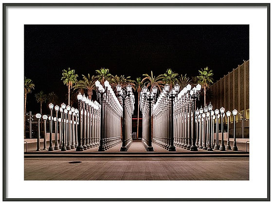 LACMA Lamps Framed
