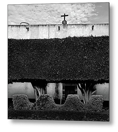 The Garden Of The Temple Of San Francisco Metal Print