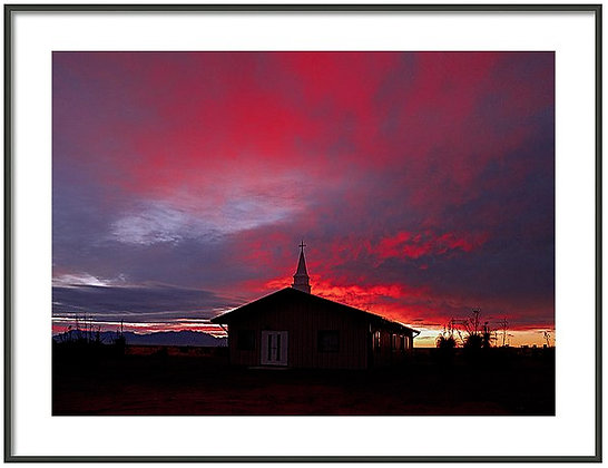 West Texas Church Framed