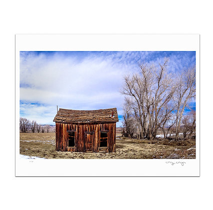 Shack in the Snow Melt Print