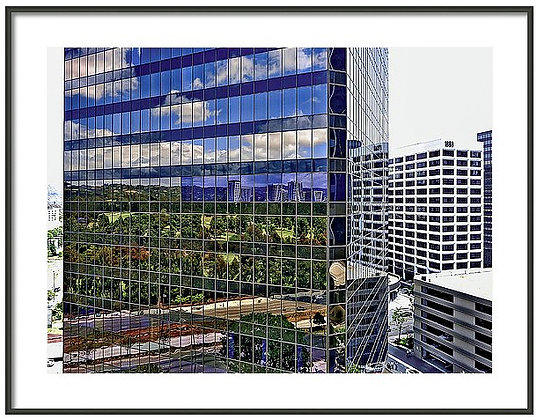 Century City Glass Framed