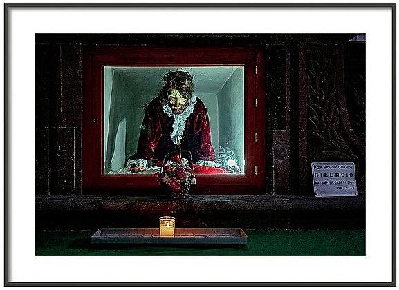 Jesus On Display Framed