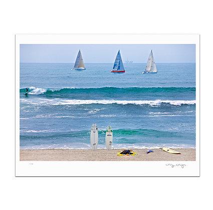 Huntington Beach Arranged Print