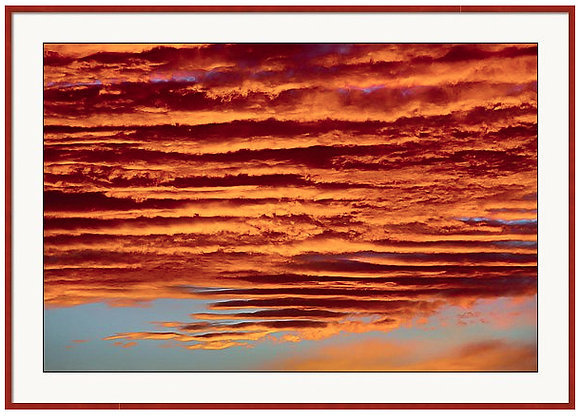 Stacked Sky Custom Framed Print