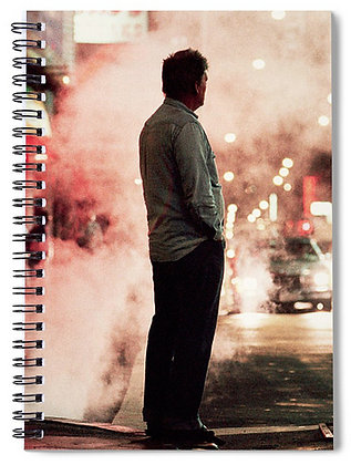 Man At Times Square Notebook