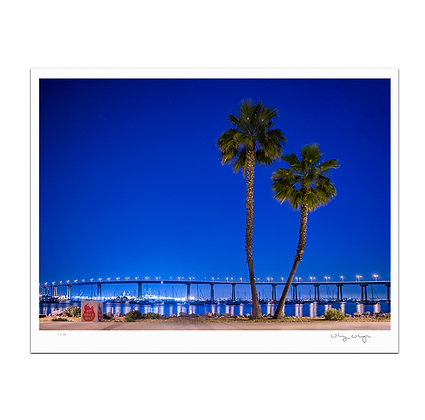 Late Night At Coronado Bridge Print
