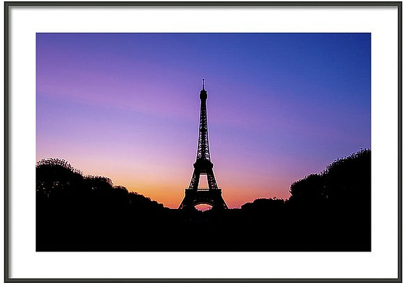 Eiffel Tower At Dusk Framed