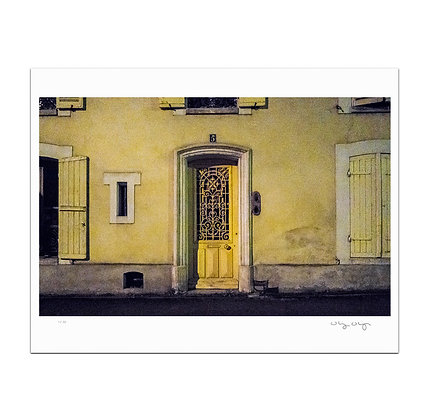 Yellow Door Number Five Print