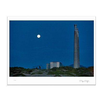Blue Moon At Morro Bay Print