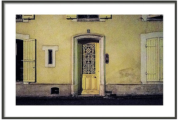 Yellow Door Number Five Framed