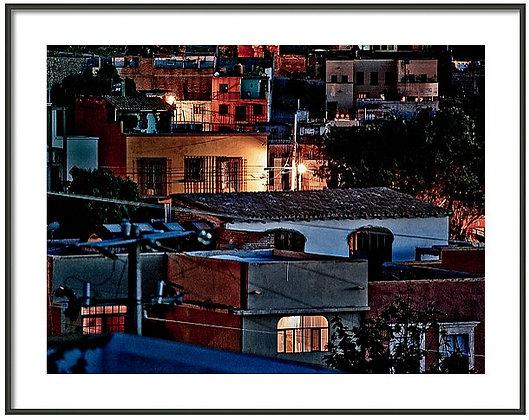 Allende At Night Framed