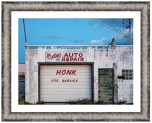 Honk For Sevice Custom Framed