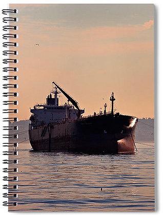 Freighter Off El Segundo Notebook