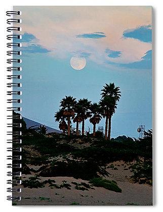 Moon Rise At Morro Bay Notebook