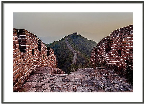 Tower to Tower At The Great Wall Framed