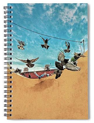 Pigeons Decend Notebook