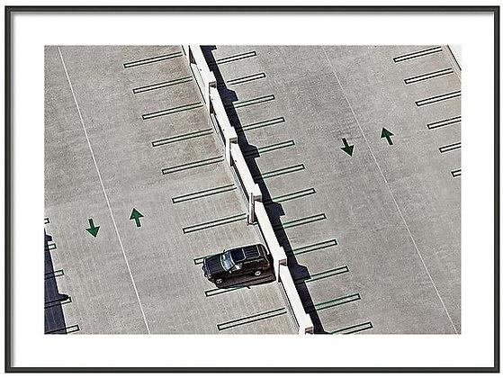Rooftop Parking Framed