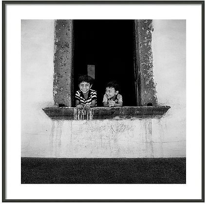 Brothers In The Window Framed