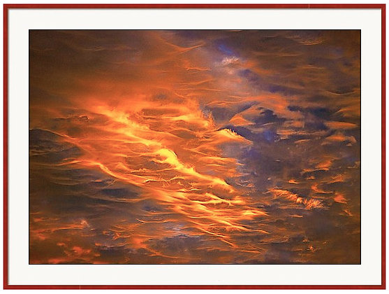 Fire In The Sky Custom Framed Print