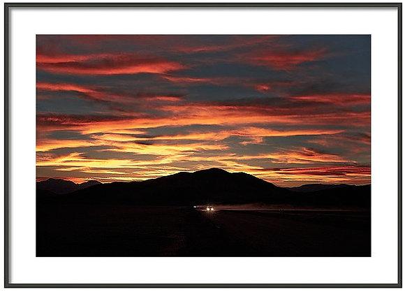 Desert Road Framed