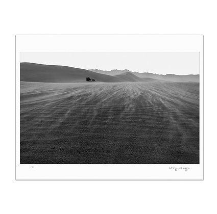 Wind Storm on Mesquite Flats Print