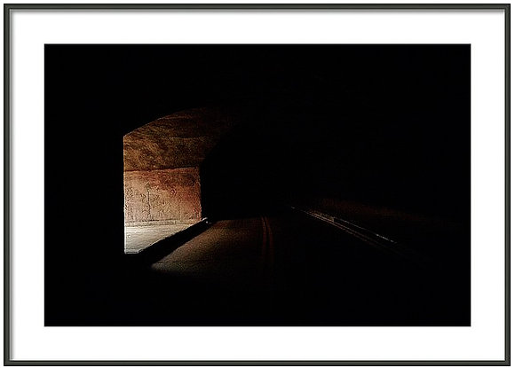 Tunnel To Darkness Framed