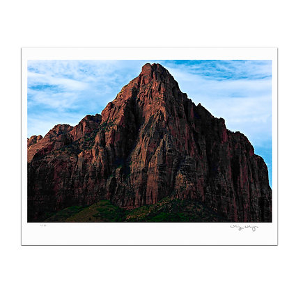 Peak At Zion Print