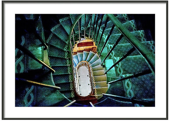 Spiral Staircase In Joigny Framed