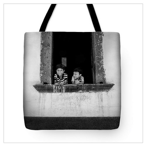 Brothers in the Window Tote Bag