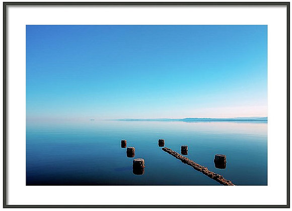 Jetty At Salton Sea Framed