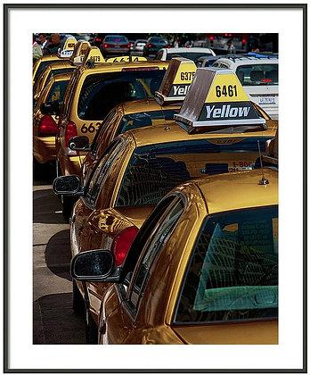 Taxi Line Framed