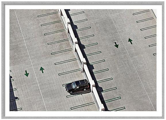 Rooftop Parking Custom Framed