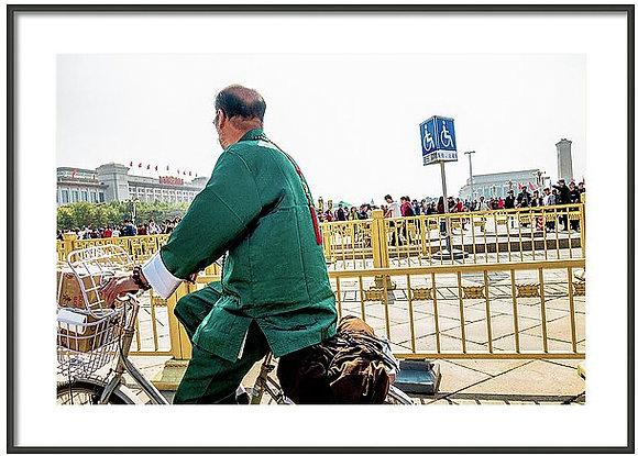 Beijing Biker Framed