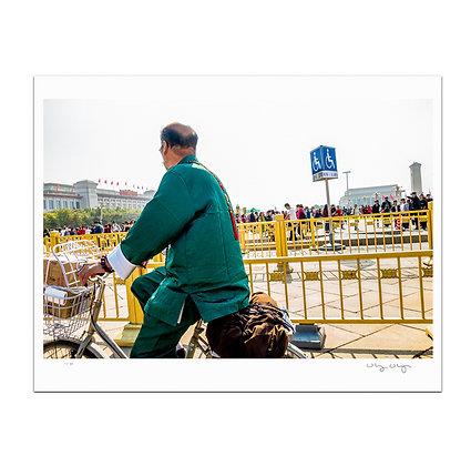 Beijing Biker Print