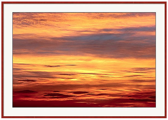Settled Sky Custom Framed Print
